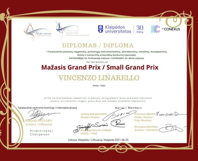 Mažasis Grand Prix: Vincenzo Linarello